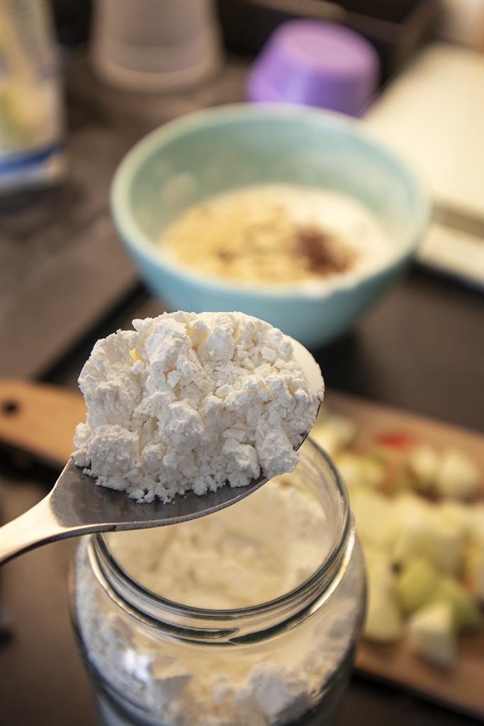 Fit Śniadanie - omlet szarlotkowy